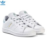 adidas Originals White and Mint Green Kids Stan Smith Trainers
