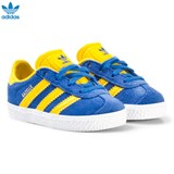 adidas Originals Blue and Yellow Infants Gazelle Trainers