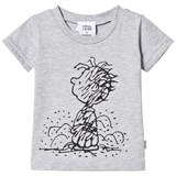 Tobias & The Bear Grey Marl Short Sleeve Pig Pen Tee