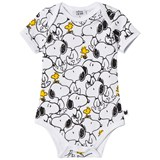 Tobias & The Bear White Snoopy & Woodstock Vest Romper