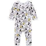 Tobias & The Bear White Snoopy & Woodstock Long Romper