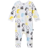 Tobias & The Bear White with multi Peanuts Characters Long Romper