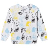 Tobias & The Bear White and Multi-Coloured Peanuts Characters Lightweight Sweatshirt