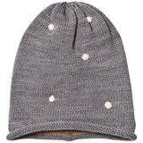 Mini A Ture Grey White Bobble Beanie
