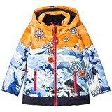 Sportalm Golden and Blue Multi Hooded Jacket