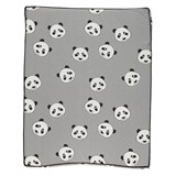 Småfolk Grey Panda Print Baby Changing Mat
