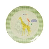 RICE A/S Kids Bamboo Melamine Lunch Plate w. Boys Animal Print