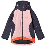 Helly Hansen Purple and Pale Blue Junior Louise Ski Jacket