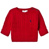 Ralph Lauren Red Cable Knit Jumper