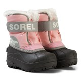 Sorel Pink and Grey Children's Snow Commander Boots