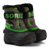Sorel Toddler Snow Commander Quarry Cyber Green