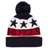 Tommy Hilfiger Navy, White and Red Branded Bobble Hat