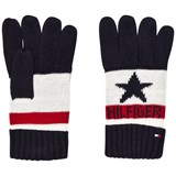 Tommy Hilfiger Navy, White and Red Branded Gloves