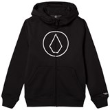 Volcom Black Grohman Logo Base Layer Fleece Hoodie