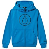 Volcom Blue Grohman Logo Base Layer Fleece Hoodie