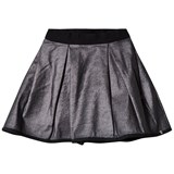 IKKS Silver Metallic Skirt Reversible into Black Satin