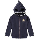 IKKS Navy Zip Thru Hoody with Teeth and Eye Holes