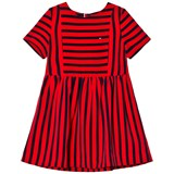Tommy Hilfiger Red and Navy Stripe Dress