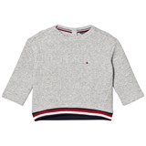 Tommy Hilfiger Grey 3D Branded Jumper
