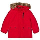 Tommy Hilfiger Red Faux Fur Lined Hood Parka Jacket
