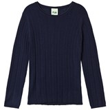 FUB Rib Blouse Navy
