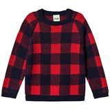 FUB Navy and Red Tartan Blouse