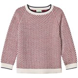 FUB Rhombus Sweater Ecru/Navy/Red