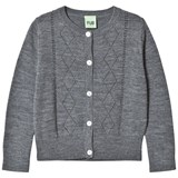 FUB Pointelle Cardigan Grey