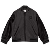 Karl Lagerfeld Kids Grey and Black Contrast Sleeve Bomber Jacket
