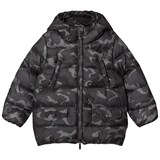 Il Gufo Grey Camo Down Filled Hooded Coat