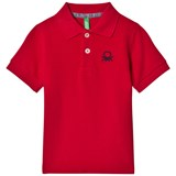 United Colors of Benetton S/S Pique Logo Polo T-Shirt Red