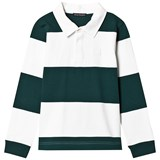 Acne Studios Bottle Green and White Mini Nichols Top