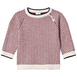 FUB Baby Rhombus Sweater Ecru/Navy/Red