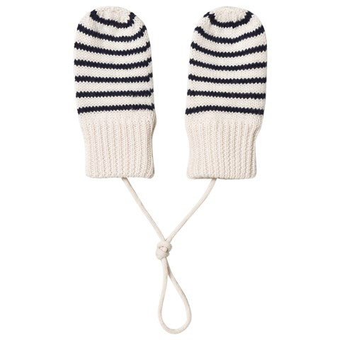 FUB Navy Striped Baby Mittens