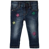 United Colors of Benetton Relaxed Fit Washed Denim Trouser Blue