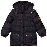 Joules Black Padded Parka with Detachable Hood