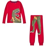 Joules Red Dinosaur Print Short Pyjamas