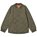 United Colors of Benetton Khaki Padded Bomber Jacket With Contrast Colour Lining