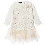 Kate Mack - Biscotti Cream Lace Embroidered Tulle Skirt Dress