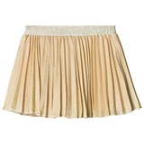 Kate Mack - Biscotti Gold Metallic Pleated Skirt