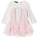 Kate Mack - Biscotti Pink and Ivory Embroidered Tulle Dress
