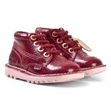 Kickers Burgundy Leather Hi-Top Boots