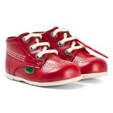 Kickers Red Leather Kick Hi B Boots