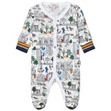 Paul Smith Junior White City Print Light Sweat Babygrow