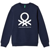 United Colors of Benetton Navy Jersey Logo Sweater & Trouser Set