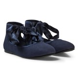 United Colors of Benetton Flattie Show With Tie Ankle Navy