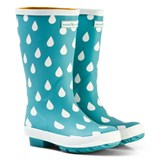 Muddy Puddles Pale Green and White Raindrop Puddlestomper Wellies