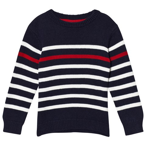 Cyrillus Blue with White Stripe Sweatshirt