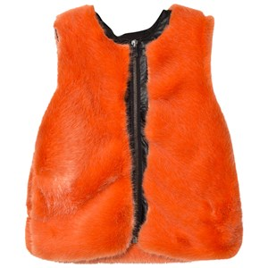 SO TWEE | So Twee Orange Faux Fur And Pleather Gilet 6 Years | Goxip