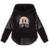 So Twee Black Diamante Studded Mouse Hoodie with Split Back
